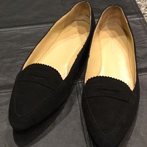 Talbots black suede leather loafers